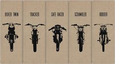 Boxer Twin; Tracker; Cafe Racer; Scrambler; Bobber. - Cafe Racer's where it's at.