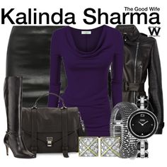 Inspired b Archie Panjabi as Kalinda Sharma on The Good Wife.