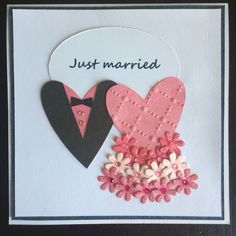 Card just married Just Married, Creations, Cards