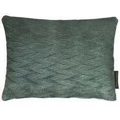 Tempo Wave Teal Rectangular Cushion