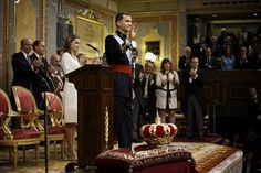 The coronation of King Felipe VI is held in Madrid. His father, the former King Juan Carlos of Spain abdicated on June 2nd after a 39 year r...