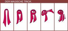 Tücher raffiniert tragen: Der MagischeTrick