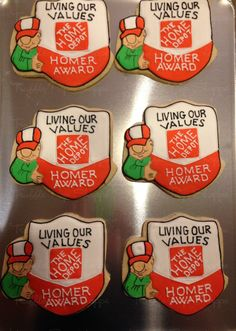 """Home Depot """"Homer Award"""" Cookies - Truffle Pop Shoppe 