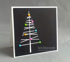 This is for this week's Muse  - inspired by this card by Marion :      I changed the season and went retro with some old Stampin' Up brad...