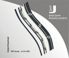 Bead loom patterns, set of 3 bracelet patterns, loom bracelet, geometric loom, loom bracelet pdf - Bijoux Loom Bracelet Patterns, Bead Loom Patterns, Beading Patterns, Geometric Patterns, Beading Tutorials, Stitch Patterns, Bracelets Diy, Bead Loom Bracelets, Macrame Bracelets