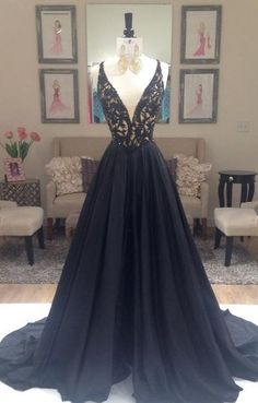 black prom Dress,charming Prom Dress,A-line prom dress,evening prom dress,long prom dress,BD611