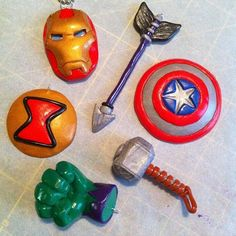 The Avengers Pendants by Geisha-Neko.deviantart.com on @deviantART