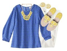 """""""Walking on Sunshine"""" by qtpiekelso ❤ liked on Polyvore featuring J.Crew, Forever 21 and Jack Rogers"""