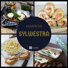 1) Grzanki z pesto, pomidorami i mozzarellą http://cooklet.com/pl/przepis/4715/grzanki-z-pesto-pomidorami-i-mozzarella  2) Kanapkowe sushi z łososiem http://cooklet.com/pl/przepis/4476/kanapkowe-sushi-z-lososiem  3) Grzanki z delikatną pastą z awokado i wędzoną makrelą http://cooklet.com/pl/przepis/7878/grzanki-z-delikatna-pasta-z-awokado-i-wedzona-makrela  4) Panini z szynką  http://cooklet.com/pl/przepis/7920/panini-z-szynka