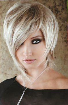 Fresh Hair Styles Short With Long Bangs Stylish Hair Styles 2016, Medium Hair Styles, Short Hair Styles, Medium Curly, Short Thin Hair, Short Hair Cuts, Straight Hair, Sassy Hair, Fresh Hair