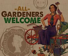 All Gardeners Welcome Painting Print on Wrapped Canvas