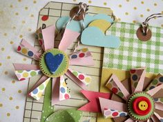 Cute Pinwheel Tags (with tutorial!)