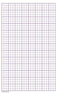Printable 3 Squares Per Inch Purple Graph Paper for Legal Paper Graph Paper, Printable Paper, Squares, Free Printables, Templates, Purple, Stencils, Free Printable, Viola