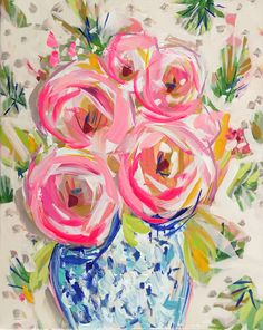 Abstract Roses, Flowers, Vintage Wallpaper Print, rose, 8 x 10, 11x14, 16x20 by DevinePaintings on Etsy