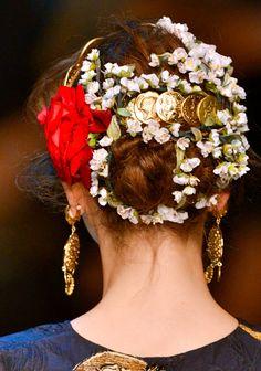 Dolce & Gabbana S/S 2014 chiffon et ribbons