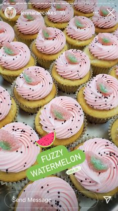 Watermelon Cupcakes, Sweets, Gummi Candy, Candy, Goodies, Treats, Deserts