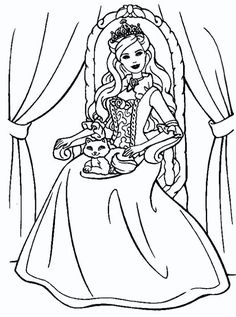 Find This Pin And More On Dibuixos Per Pintar Free Printable Princess Colouring Page