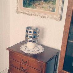 Omis Lampe mit Fotos von den Liebsten. Fotos jederzeit erneuerbar