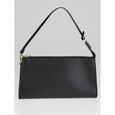 489925a7f6dc Pre-owned Louis Vuitton Black Epi Leather Accessories Pochette 24 Bag  ( 295) ❤
