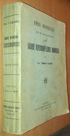GRANDE REPERTORIO CLINICO OMIOPATICO di Tommaso Cigliano Farmacia Omiopatica