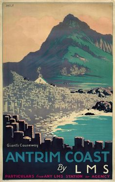 Antrim Coast Travel Poster