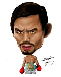 caricature - Manny Pac.