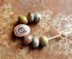 Gaea Ceramic Bead and Art Studio Blog. Tribal bead set. gaea.cc