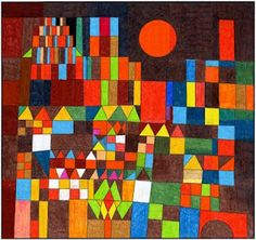 Castle and the Sun by Paul Klee. Classroom inspriation Also see artprojectsforkids.org for idea on how to create in class, also has lots of other ideas