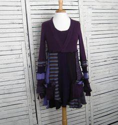 Sweater Tunic S/M, Upcycled Clothing, Upcycled Sweaters, Recycled Sweaters, Upcycled Tunic, Babydoll Tunic, Size S/M on Etsy, $78.00