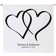 Heart Design Personalized Wedding Banner  found at @JCPenney