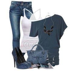 Blue jean style