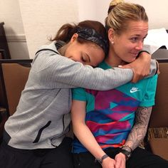 """USWNT Instagram: """"Guess who scored on who yesterday? #TooSoon #NWSL """" Sydney Leroux and Ashlyn Harris"""