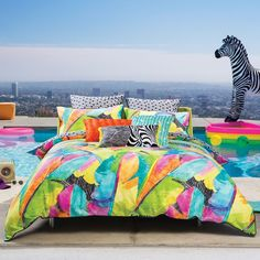 Byron Multi Quilt Cover Set by Kas at Elan Linen Online.