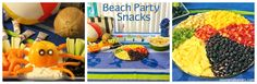 Beach Party Snacks Beach Party Snacks, Luau Party, Party Fun, Party Time, Ice Cream Treats, Ice Cream Party, Finger Food Appetizers, Finger Foods, Under The Sea Party