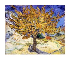 The Mulberry Tree in Autumn, c.1889 by Vincent Van Gogh art print...love the shades of gold...own a print....love!