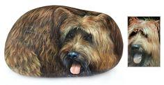 Ritratti di cani su pietra dipinti ad acrilico | L'arte di Roberto Rizzo
