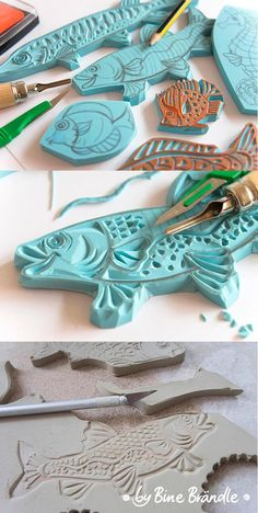 Great idea for a clay stamp!