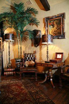 """Grandeur Design - """"old world"""" Living Room"""