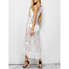28.08$  Buy now - http://dinav.justgood.pw/go.php?t=200571305 - See Through Ruffles Maxi Cami Dress 28.08$