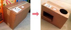 Cardboard DIY Play Kitchen