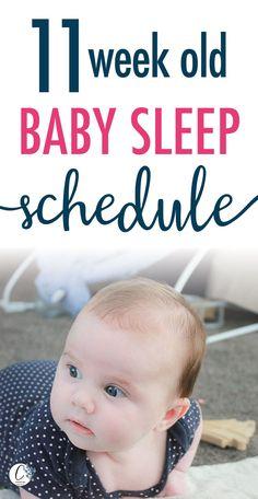 11 week old Baby Sleep Schedule Newborn Baby Tips, Newborn Schedule, Baby Sleep Schedule, Bedtime Routine Baby, Baby Bedtime, Help Baby Sleep, Kids Sleep, Child Sleep, Taking Care Of Baby