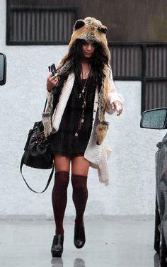 Vanessa Hudgens Spirit Hood  She stole my style lol