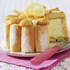 Charllote de Ananás - I could not find a pineapple charlotte photo, but that is it basically, just with pineapplecreme