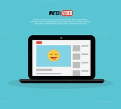 Watch video. Laptop with Page Site by @Graphicsauthor