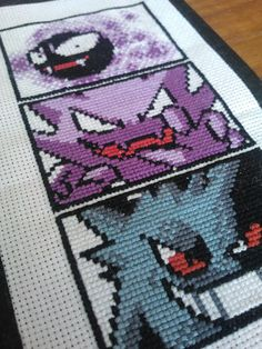 Hey, I found this really awesome Etsy listing at https://www.etsy.com/listing/225190885/cross-stitched-pokemon-ghosts-ghastly