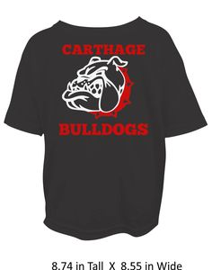Carthage Bulldogs - Youth or Adult - Glitter or Regular Vinyl by SmallTownHeat on Etsy