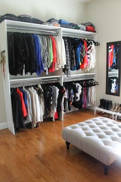 One of my most popular posts of all time is about transforming a spare bedroom in our home into my closet/dressing room. It continues to be pinned and viewed on this