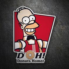 Pegatinas: Donuts Homer #friki #TeleAdhesivo