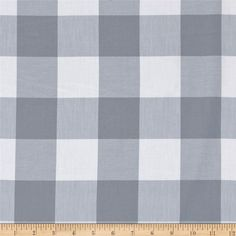 """Kaufman Carolina Gingham 2"""" Platinum from @fabricdotcom  From Kaufman, this woven yarn dyed gingham fabric is great for blouses, dresses, skirts and children's apparel. It can also be used for quilting projects. Colors include black and red. Remember to allow extra yardage for pattern matching."""