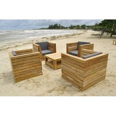Willow Creek Designs Pacific 5 Piece Deep Seating Group with Cushion Fabric: Canvas Buttercup